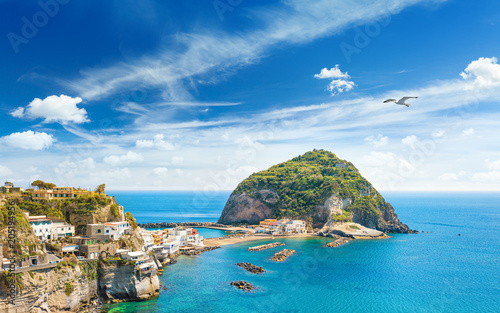 Pinturas sobre lienzo  Giant rock near small village Sant'Angelo on Ischia island, Italy