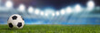 Leinwandbild Motiv Panorama Hintergrund mit Fußball Stadion