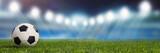 Fototapeta sport - Panorama Hintergrund mit Fußball Stadion