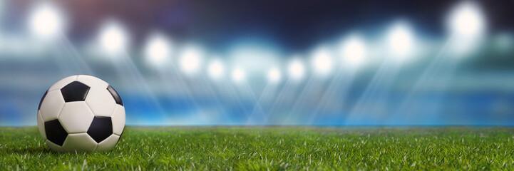 Panorama Hintergrund mit Fußball Stadion