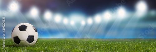 Panorama Hintergrund mit Fußball Stadion Poster