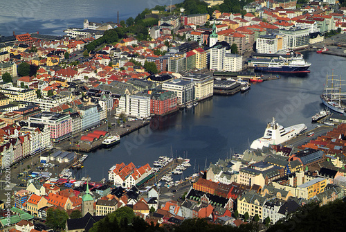 Foto op Canvas Poort Norway, Bergen, Harbor