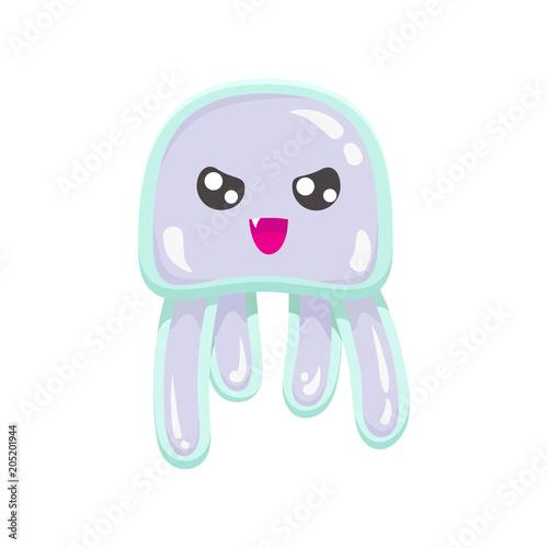 Chibi angry box jellyfish Canvas Print