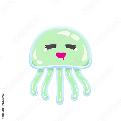 Photo  Chibi sleepy and hungry jellyfish