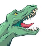 Fototapeta Dinusie - Vector comics dinosaur
