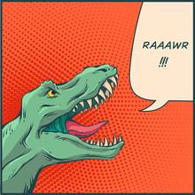 Vector Comics Dinosour