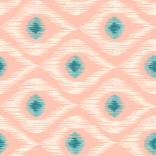 Retro Ikat Pattern.