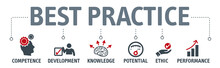 Banner Best Practice Vector Illustration Concept