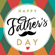 Happy Father`s Day Elegant Let...