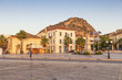 Greece, Peloponnese, Argolis, Nauplia, Old town, Palamidi Fortress in the evening light
