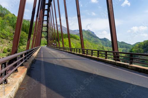 Keuken foto achterwand Route 66 春の奥裾花大橋