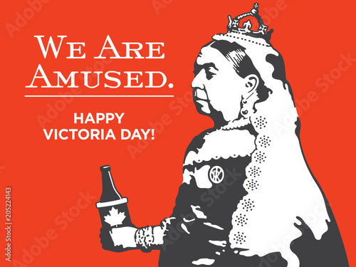 Fotografie, Obraz Queen Victoria We Are Amused Victoria Day Illustration