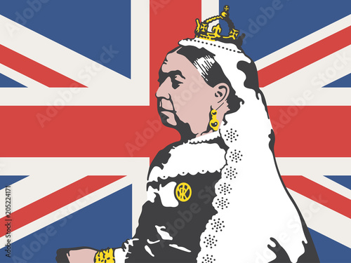 Obraz na plátně Queen Victoria Vector Illustration