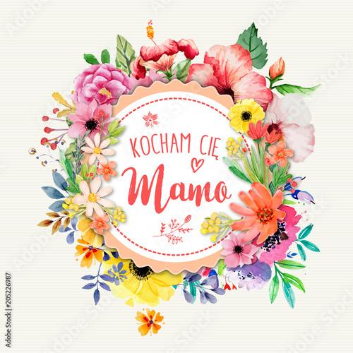 Dzień Matki 26 Maja - kartka z napisem