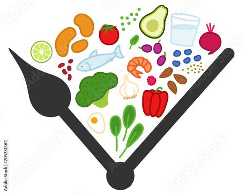 Intervallfasten, Fasten, Abnehmen, gesundes Essen zu bestimmten Zeiten Tapéta, Fotótapéta