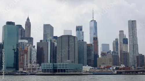 Staande foto Stad gebouw Stadtpanorama von New York, Skyline, Blick auf Hochhäuser