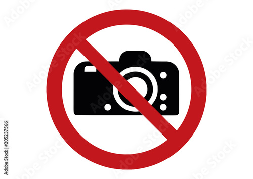 Cuadros en Lienzo no photo sign - photographing prohibited sign - no camera  -