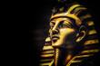 Leinwanddruck Bild - Stone pharaoh tutankhamen mask