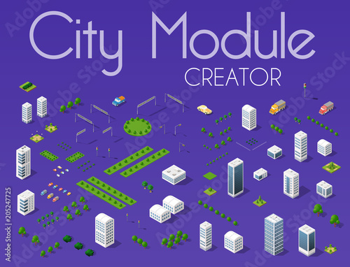 Photo Stands Violet City module creator