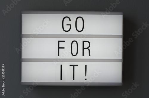 Fotografía  Motivational message on billboard