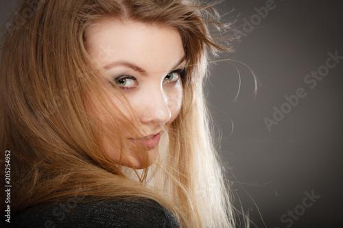 Fotografie, Tablou Smiling joyful lady in trendy fashion look.