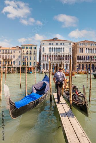 In de dag Centraal Europa Venise et ses gondoles