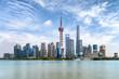 canvas print picture - Das Zentrum Pudong von Shanghai, China, mit den modernen Gebäuden und Wolkenkratzern