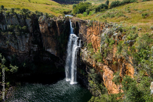 Plakat Berlin Spada w Blyde River Canyon obszarze, Mpumalanga w Republice Południowej Afryki