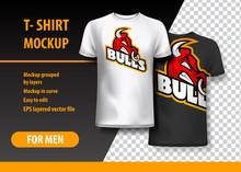 T-Shirt Mockup With Rhino Phra...