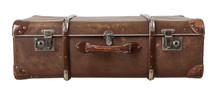 Retro Suitcase Isolated On Whi...