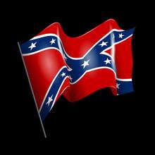 Waving Confederate American Fl...