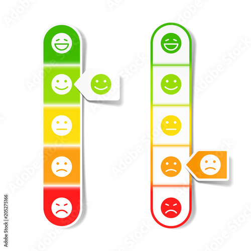 Feedback concept with different emoticons Tapéta, Fotótapéta