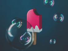 Ice Cream And Bubbles