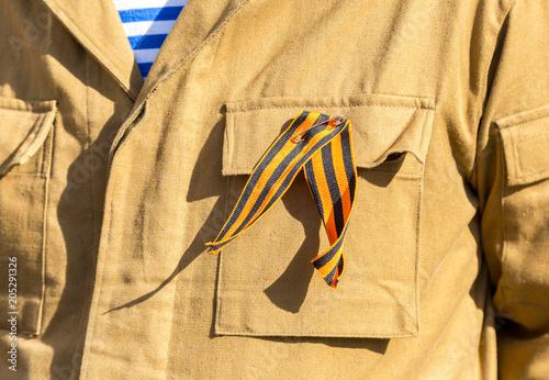Fotografie, Obraz  Black and orange ribbon of St