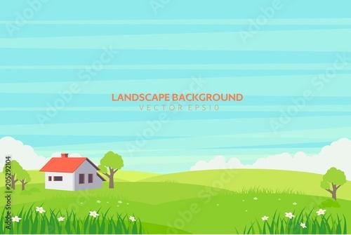 Fotobehang Lichtblauw Landscape Background