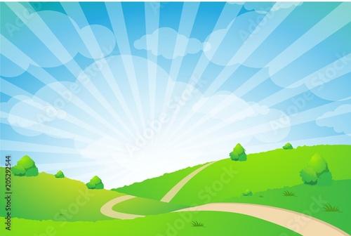 Fotobehang Zwavel geel Landscape Background