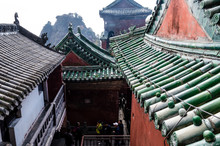 The Roofs Of The Monasteries Of Wudang.
