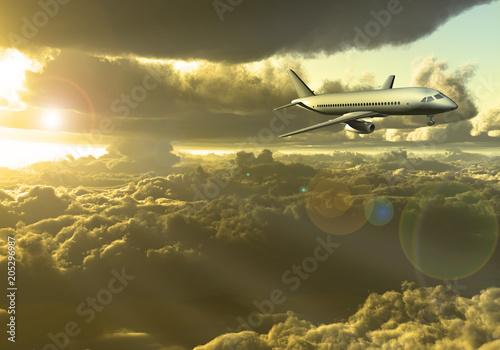 Fotobehang UFO Jet Aircraft