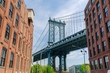 Manhattan Bridge seen from Dumbo, Brooklyn, NYC