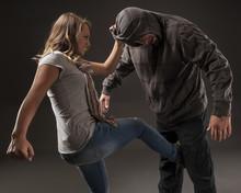 Teenage Girl Uses Self Defense...