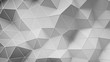 Distorted white low poly construction with lines on edges. Modern abstract motion background. Seamless loop 3D render animation 4k UHD (3840x2160)