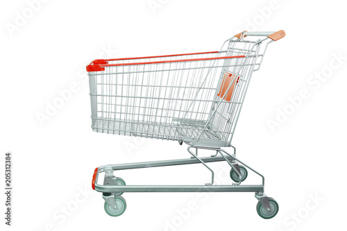 Fotografia shopping cart isolated on white background