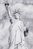 Watercolor painting The Statue of Liberty. - 205315122