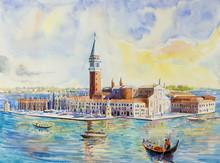 Venice Italy With Historic Go...