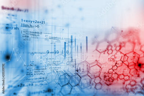 Tablou Canvas chemical science background illustration