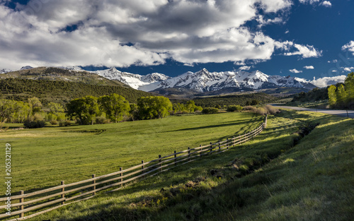 Photo  APRIL 27, 2017 - Ralph Lauren's Double RL Ranch with Rail Fence along highway