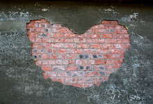 Brick Wall Texture Heart