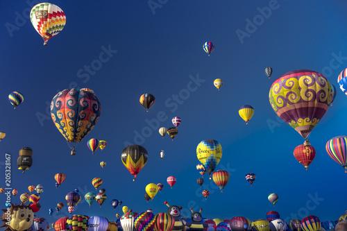 Colorful Hot Air Balloons at the Albuquerque Balloon Fiesta, Albuquerque, New Me Wallpaper Mural