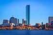 Boston skyline seen from across the Charles River, Massachusetts, USA.