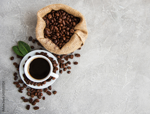 Cadres-photo bureau Café en grains Cup of coffee